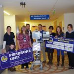 Cycling team present Salisbury hospital with fundraising cheque!