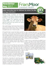 Friars Moor Livestock Health Monthly Newsletter - cover