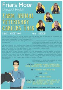 Schools career talk - Farm animal veterinary careers @ Zoom